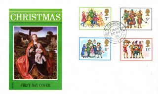 22 November 1978 Christmas Philart First Day Cover House Of Commons Sw1 Cds photo