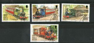 Isle Of Man 1988 High Value Definitives Steam Locomotives Commemoratives Vfu photo