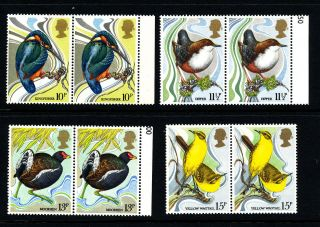 N606 Gb 1980 Sg1109 - 12 (pairs) Wild Bird Protection Act Centenary photo