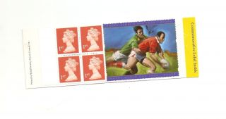 Hb18 Gb Stamp Booklet Rugby World Cup Commemorative Label photo