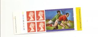 Hb18 Cyl Gb Stamp Booklet Rugby World Cup Commemorative Label photo