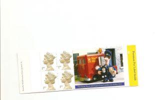 Hb19 Gb Stamp Booklet Postman Pat Commemorative Label photo