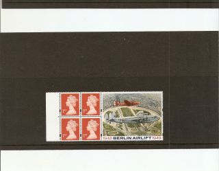 Hb17 Gb Stamp Booklet Pane Berlin Airlift Commemorative Label photo