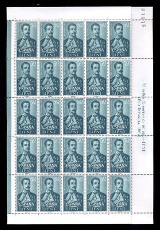 Spain Colonies Ifni 1962 Fz Duro 50c. . .  Full Sheet photo