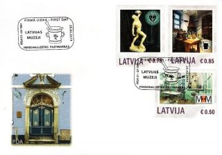 Latvia 2014 (05) My Stamp - Museums Of Latvia (unaddressed Fdc) photo