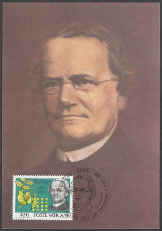Vatican City Maxicard 1984 - Genetecist Gregor Johann Mendel photo