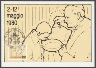 Vatican City Maxicard 1981 - Pope John Paul Ii ' S Journeys Sacrament Of Baptism photo