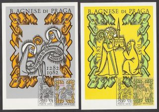 Vatican City 1982 Maxicard (2) - Blessed Agnes Of Prague photo