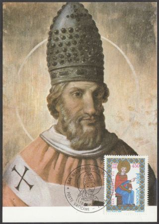 Vatican City Maxicard 1985 - 900th Death Anniversary Pope Gregory Vii photo