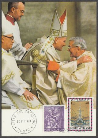 Vatican City Maxicard 1978 - Beginning Of Ministry Pope John Paul Ii photo