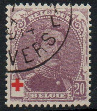 Belgium 1914 King Albert Red Cross Issue 10c+10c Value photo