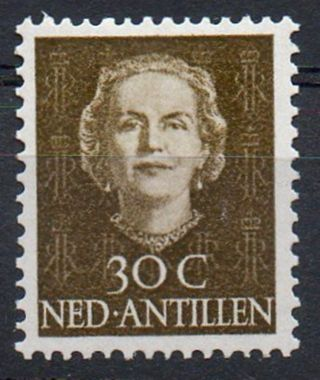 Netherlands Antilles 1950/79 Queen Juliana Issue 30c Value Mounted photo