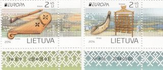 Lithuania 2014,  Europa,  Music Instruments,  Corners photo