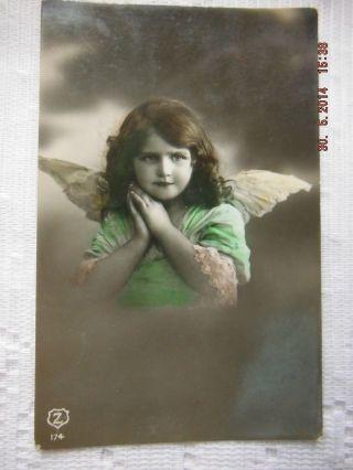 Postcard - Bulgaria - Angel Girl - Real Photo - Posted 1914 photo