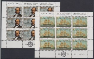 Yugoslavia Europa Cept Block Of 9 1982 photo
