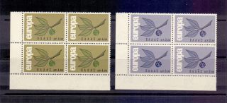 H372 - Greece Europa 1965 Block Of 4 In Corner - photo