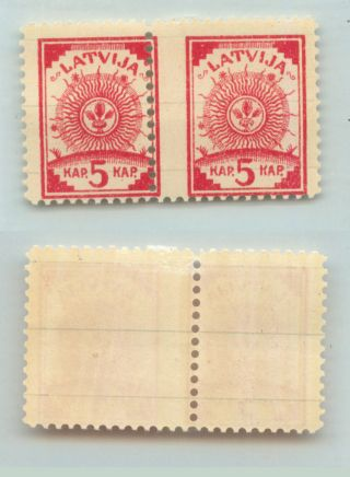 Latvia,  1919,  Sc 6, ,  Ruled Lines,  Shifted Perf.  D9309 photo