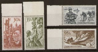 Czechoslovakia 1956 Natural Resources Crafts Mi 984 - 987 Sc 766 - 769 photo