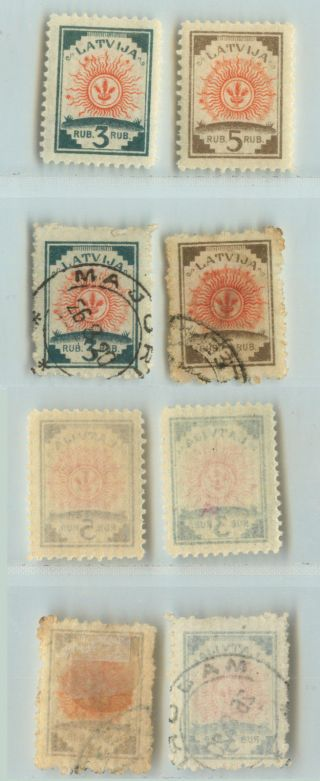 Latvia,  1919,  Sc 57 - 58,  And.  D9318 photo