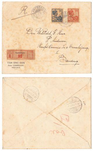 Poststempel Lampegan 20.  5.  27 Indonesia Postal History In Nederlandsch Indie. photo