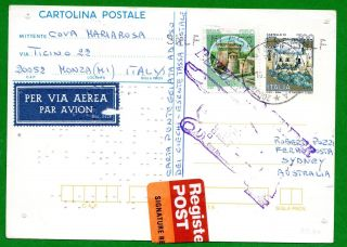 Italy - Postal Stationery In Braille With 250 Lire Castles 16 - 1 - 2001 Monza (mb) photo