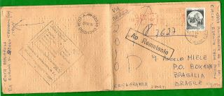 Italy - Cover Racc.  Written In Braille With 600 Lire Castles Per Brasile 1990 photo