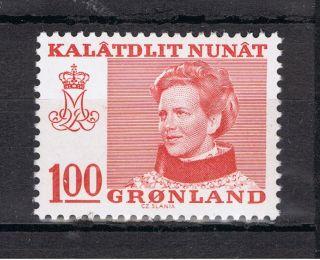 Greenland.  1977.  Queen Margrethe.  100 øre.  Stamp. . photo
