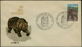 France Andorra 1971 Pyrenees Bear Ours First Day Cover Vf photo