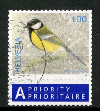 Switzerland 2006 - 9 Sg 1673 100c Birds Definitive + Label A48993 photo