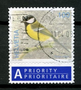 Switzerland 2006 - 9 Sg 1673 100c Birds Definitive + Label A48994 photo