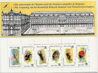 Belgium Insects - Bee - Beetles - Ladybug - Booklet 6vals - 1996 - Dragonfly - Insectes photo