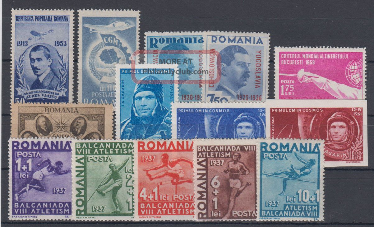 Romania Famous People,  Winter Sports 4 Complete Series 1938 - 1951 Europe photo