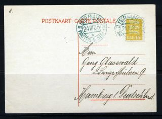 Estonia 1935 A Postcard Tallin To Germany 2nd.  Philatelic Exhibition Cancel photo
