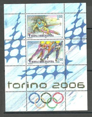 Bosnia 002 - 2006 Winter Olimpic Games Torino Block 28 I photo