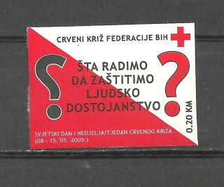 Bosnia 012 2005 Red Cross Self - Adhesive Stamp photo