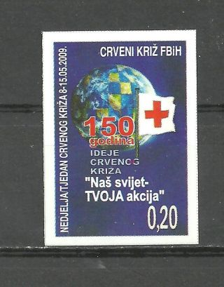 Bosnia 020 2009 Red Cross Self - Adhesive Stamp photo
