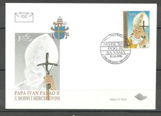 Bosnia 038 1996 Papa Ivam Pavao Ii Fdc photo