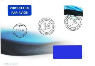 Estonia 2014 (12) Flag Of Estonia - 1 € (addressed Fdc) photo