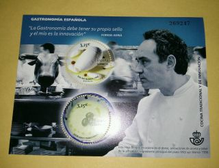 Spain.  Spanish Cuisine.  Ferran Adria Ajoblanco.  Real Smell & Taste Cocina photo