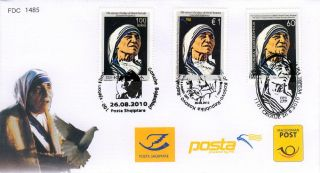 Macedonia Fdc Mother Theresa Joint Issue With Albania And Kosova Post photo
