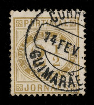 Portugal - 18? - Minr.  65yb 2 1/2r Cancelled By GuimarÃes Date Stamp photo