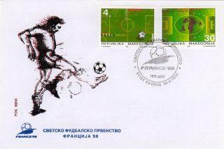 Macedonia Fdc World Football Championship France 1998 Michel Nr 126 - 127 photo