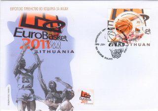 Macedonia Fdc European Basketball Championship Eurobasket Lithuania 2011 photo