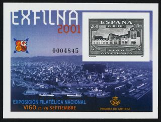 Spain 3117 Imperf Exfilina 2001 Philatelic Exhibition photo