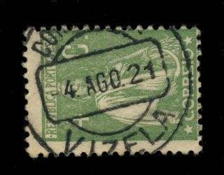 Portugal - 1921 - Minr.  225cx 4c Cancelled By Vizela Circle Date Stamp photo