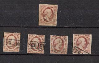 2 (x5) - 10 Cent William Iii Of 1852 - $130 Cv photo