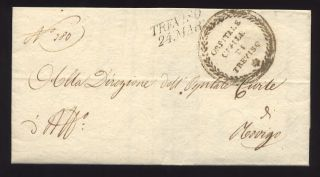 Italy 1847 Official Cover. . .  Ospitale Civile Treviso photo