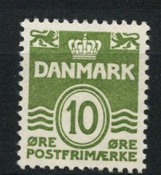 Denmark 1933 - 04 Sg 271d,  10ore Green Definitive A61276 photo
