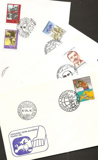 Hungary - 1982 Four All Different Cacheted/unaddressed Fdcs - Rn63n photo