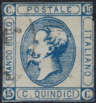 Tmm 1863 Italy General Issue S 23 F Used/hinge/light Cancel photo
